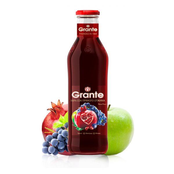 Granátovo-hroznovo-jablečná šťáva